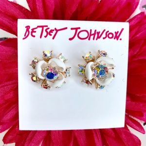 Betsey Johnson Flutterbye Floral Stud Earrings